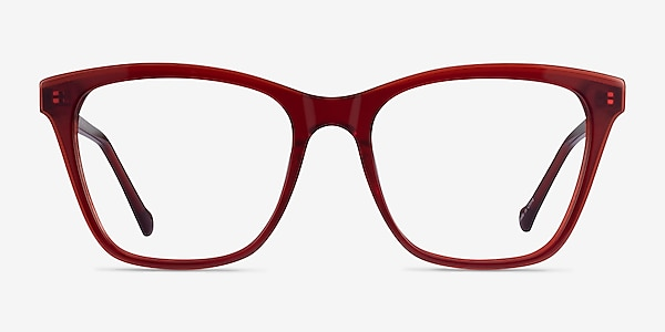 Luminescence Iridescent Red Acetate Eyeglass Frames
