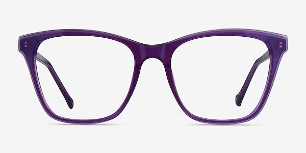 Luminescence Iridescent Purple Acetate Eyeglass Frames