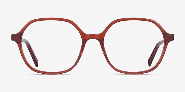 Pigment Terracotta Red Acétate Montures de lunettes de vue