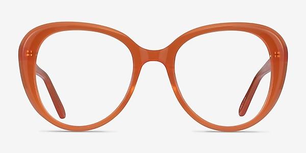 Peony Clear Orange Acétate Montures de lunettes de vue