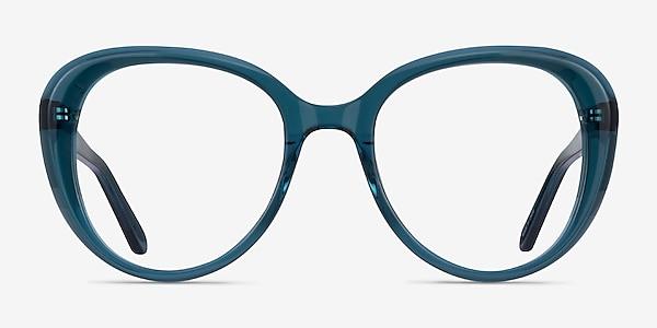 Peony Clear Teal Acetate Eyeglass Frames