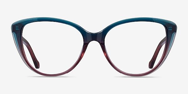 Destin Blue Burgundy Acetate Eyeglass Frames