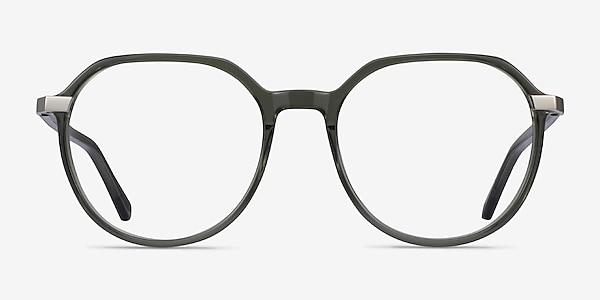 Niagara Clear Khaki Green Acetate Eyeglass Frames