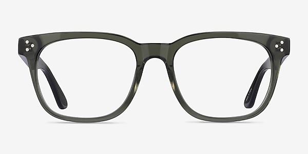Adriatic Clear Khaki Green Acetate Eyeglass Frames