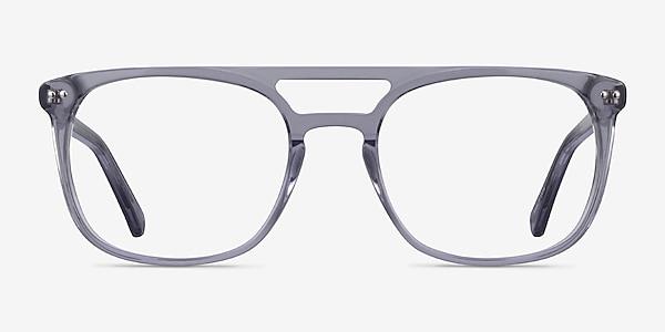 Eclipse Clear Gray Acétate Montures de lunettes de vue