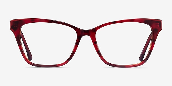 Jelly Red Tortoise Acetate Eyeglass Frames