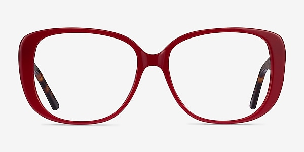 Mileva Burgundy Tortoise Acetate Eyeglass Frames