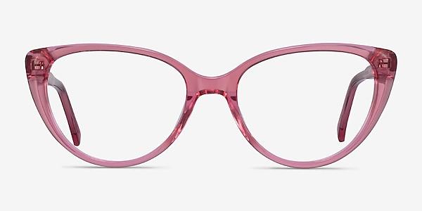 Cali Clear Pink Acetate Eyeglass Frames
