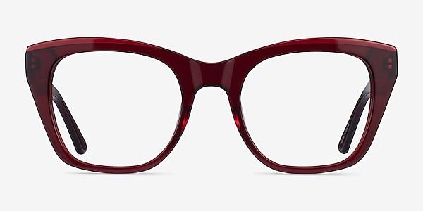 Cassie Burgundy Acétate Montures de lunettes de vue