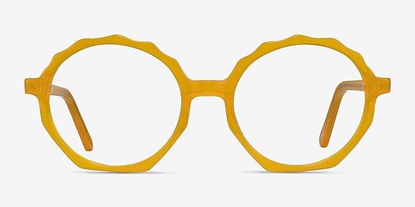 Anemone Clear Yellow Acetate Eyeglass Frames
