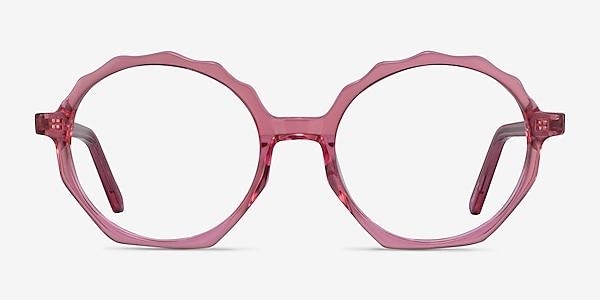 Anemone Clear Pink Acetate Eyeglass Frames