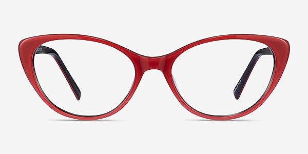 Twinkle Rouge Acétate Montures de lunettes de vue