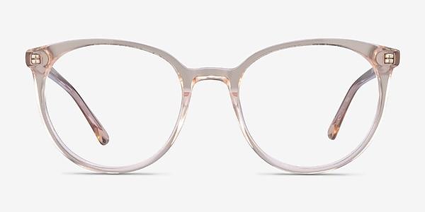 Apogee Clear Brown Acetate Eyeglass Frames
