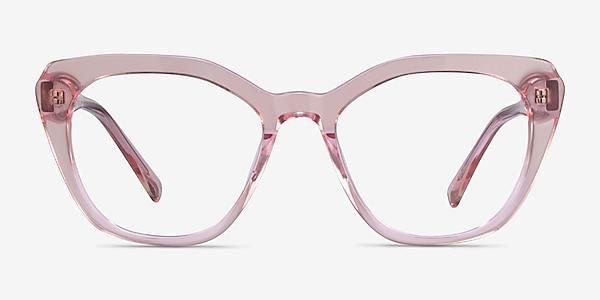 Judy Clear Pink Acetate Eyeglass Frames