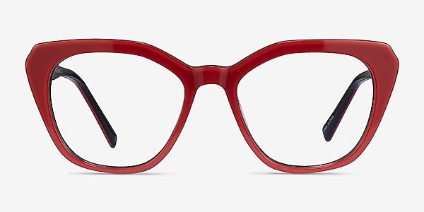 Judy Red Acetate Eyeglass Frames