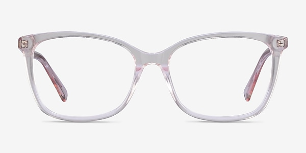 Michelle Clear Pink Acétate Montures de lunettes de vue