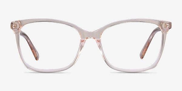 Michelle Clear Brown Acétate Montures de lunettes de vue