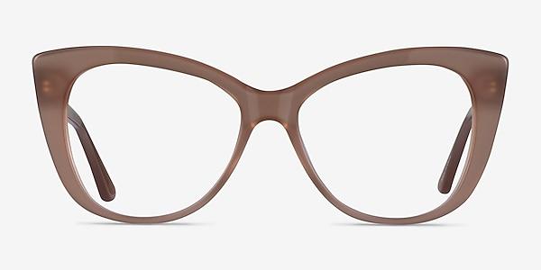 Jenna Clear Brown Acetate Eyeglass Frames