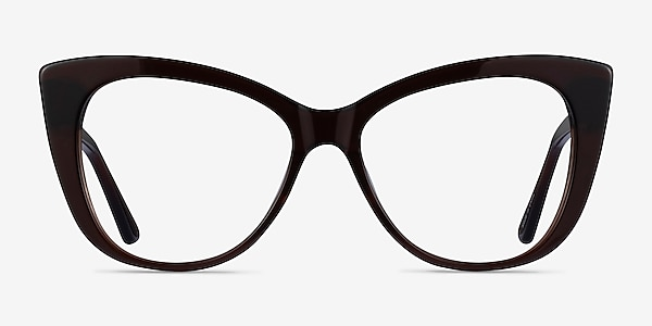 Jenna Dark Brown Acétate Montures de lunettes de vue
