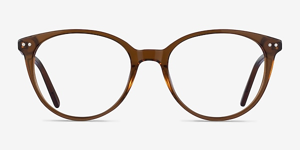 Leonia Clear Brown Acetate Eyeglass Frames