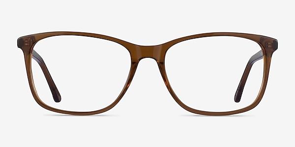 Crescendo Clear Brown Acetate Eyeglass Frames