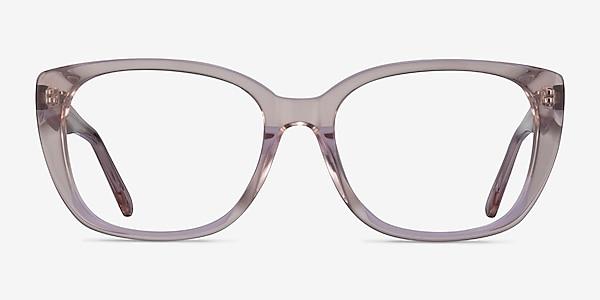 Odessa Clear Pink Acetate Eyeglass Frames