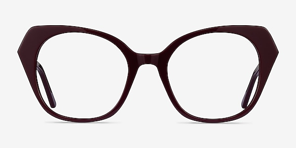 Noma Burgundy Acétate Montures de lunettes de vue