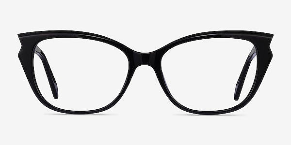Maple Black Acetate Eyeglass Frames