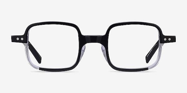 Montrose Black Clear Acetate Eyeglass Frames