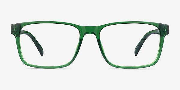 Beech Clear Green Plastic Eyeglass Frames