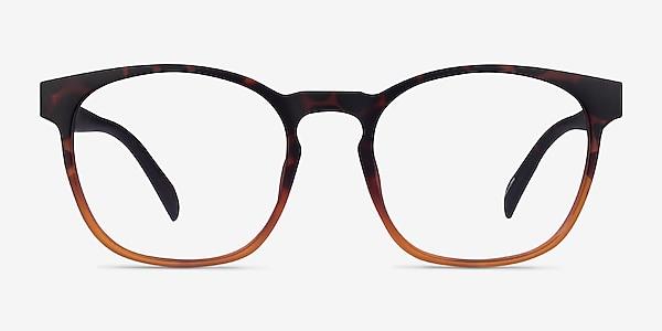 Oakwood Matte Tortoise Brown Plastique Montures de lunettes de vue