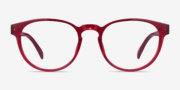 Hawthorne Clear Red Plastic Eyeglass Frames