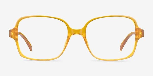 Poplar Clear Yellow Plastique Montures de lunettes de vue