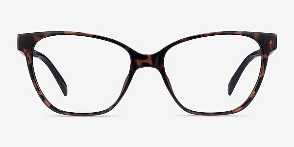 Almond Tortoise Plastic Eyeglass Frames