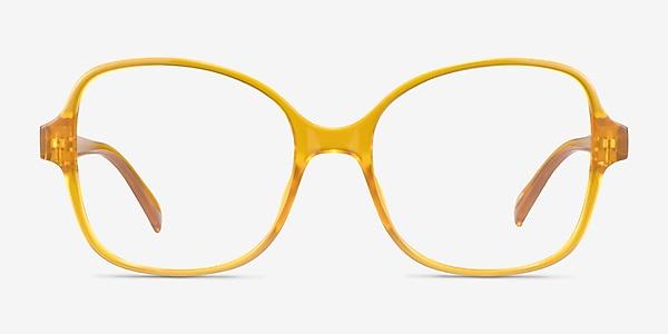 Arolla Clear Yellow Plastic Eyeglass Frames