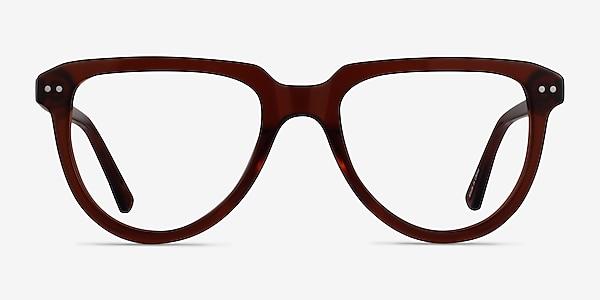 Hardin Clear Brown Acétate Montures de lunettes de vue