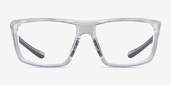 Cast Clear Gray Plastic Eyeglass Frames