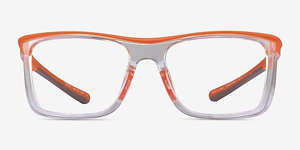 Ignite Orange Clear Plastic Eyeglass Frames