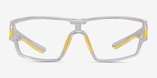 Weld Clear Yellow Plastic Eyeglass Frames