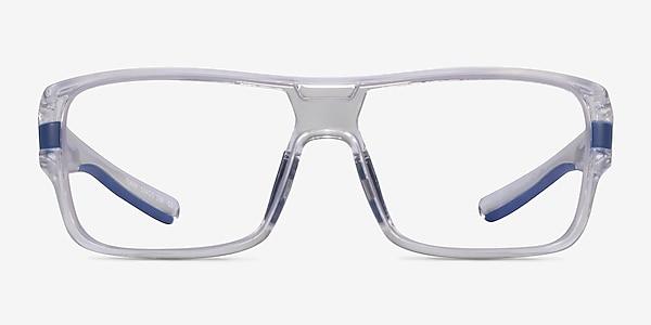 Flash Clear Blue Plastic Eyeglass Frames