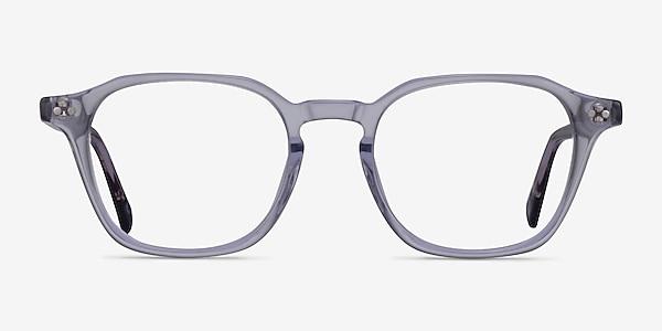Hopkins Clear Purple Floral Acetate Eyeglass Frames