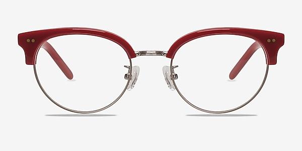 Annabel Red Acetate-metal Eyeglass Frames
