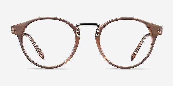 Get Lucky Brown/Silver Acetate-metal Eyeglass Frames