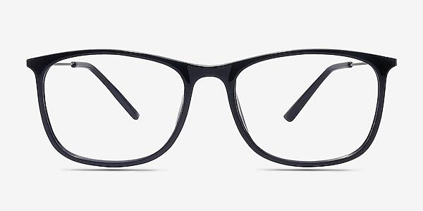 Hurricane Black Plastic Eyeglass Frames