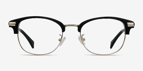 Kinjin Black Acetate-metal Eyeglass Frames
