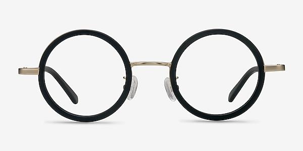 Roaring Black Acetate-metal Eyeglass Frames