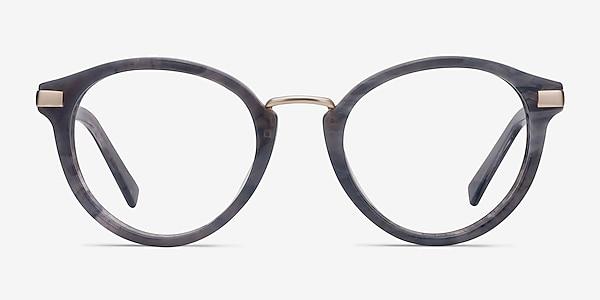 Yuke Dark Gray Acetate-metal Eyeglass Frames