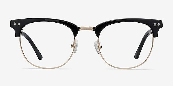 Borderline Noir Acetate-metal Montures de lunettes de vue