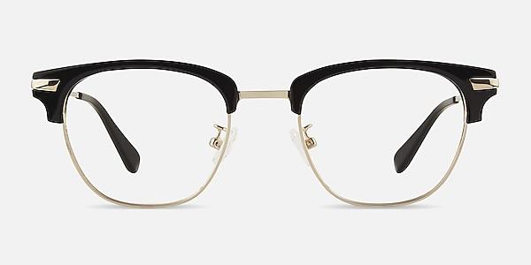 Identity Noir Acetate-metal Montures de lunettes de vue
