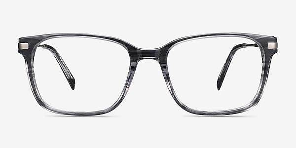 Motion Gray Striped Acetate-metal Montures de lunettes de vue